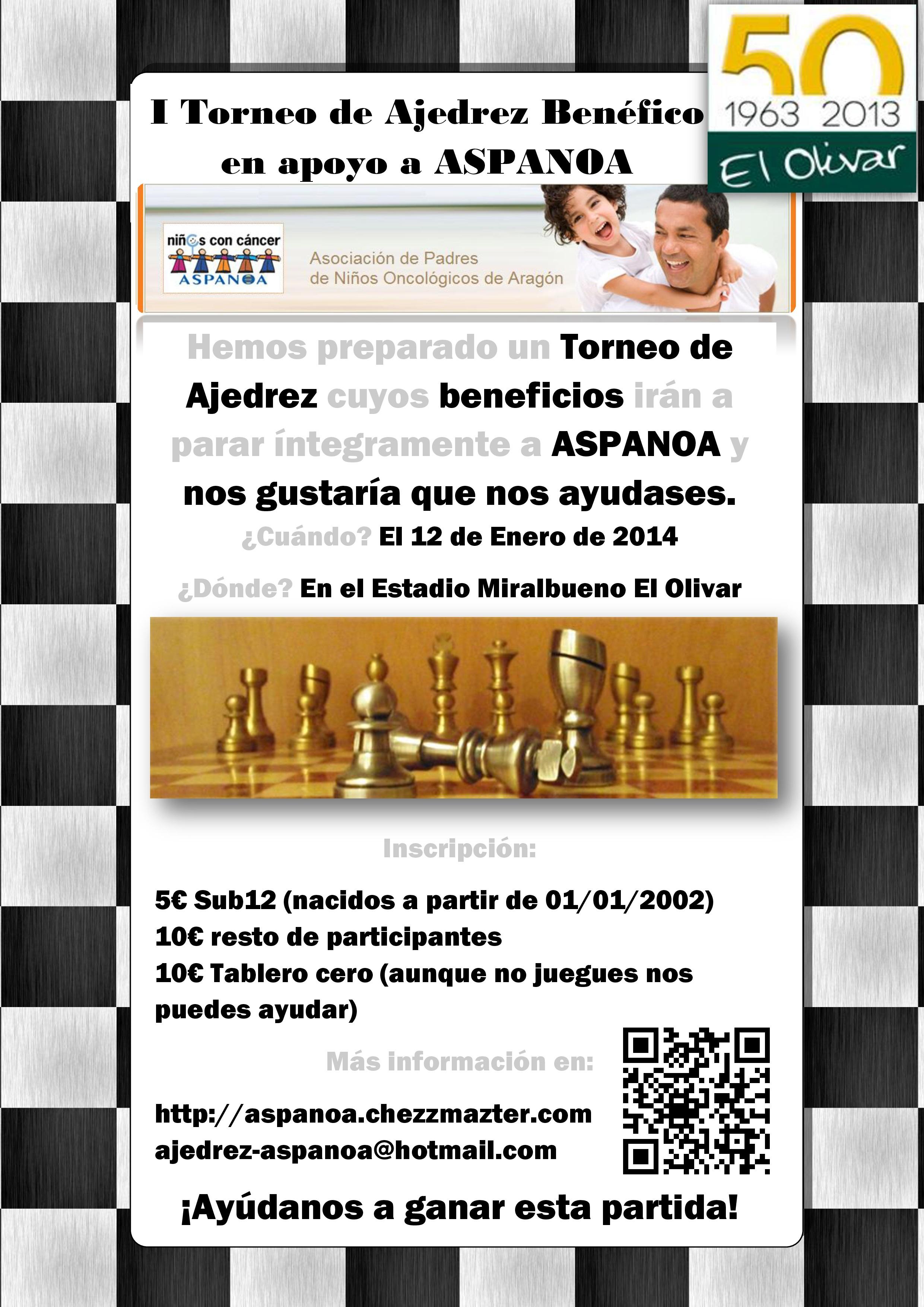 Cartel del Torneo de Ajedrez ASPANOA