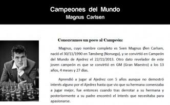 Campeones del mundo de ajedrez - Magnus Carlsen